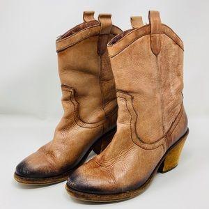 SAM EDELMAN 'Nile' Whiskey Leather Cowboy Boots